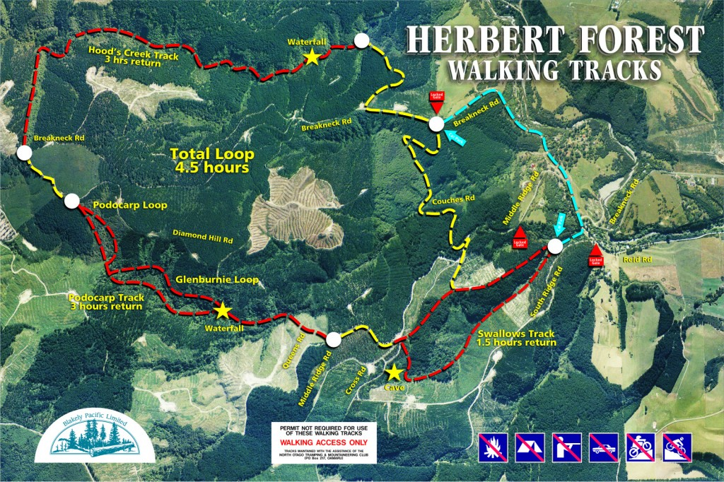 Herbert Walking Tracks Map 2012 blank compressed